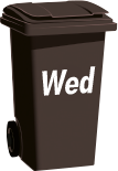 black refuse bin Wednesday