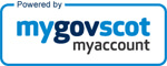 Powered by MyGovScot logo